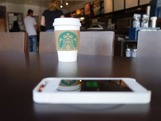 Starbucks wireless mobile charging